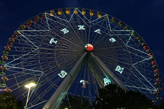 This picture is of the ferris wheel at the State Fair of Texas.  I enjoy going to the State Fair and seeing all of the exhibits as well as riding the rides.  I don't always get to go, but I do enjoy it.