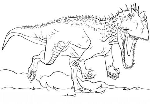 indominus rex disegno da colorare | disegni da colorare