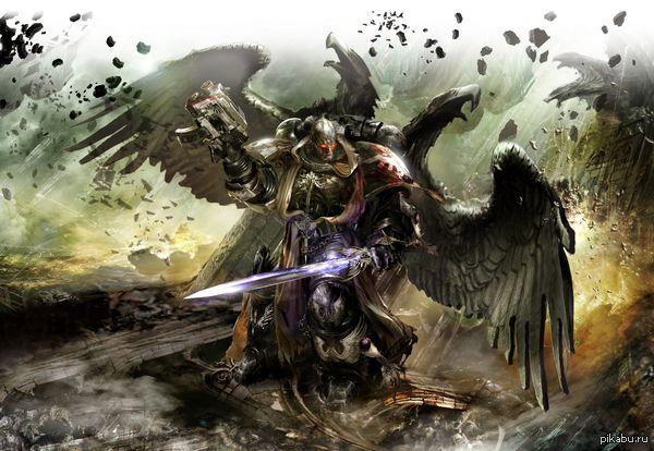 """Дрэгон, Падший Ангел. """"Ты не можешь убить меня. Я видел, как я умру, и это будет не от твоей руки. Однако я видел, как вы умрете, мой дорогой полковник…"""" ©  Warhammer 40k, арт"""