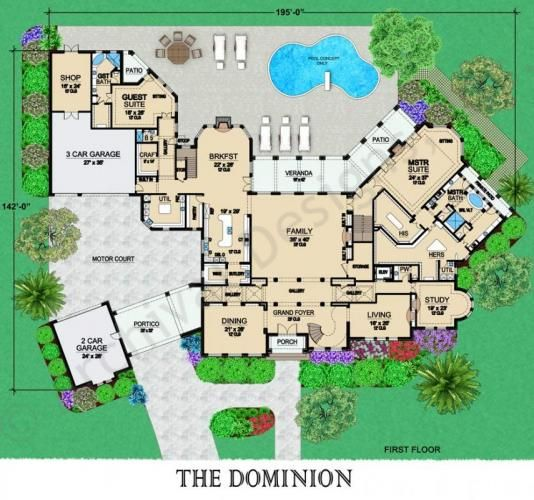 Dominion House Plan - First Floor Plan