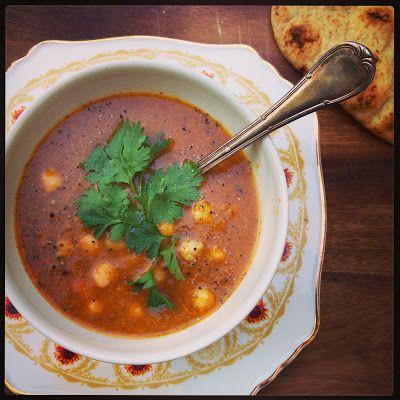 Marokkaanse soep met kikkererwten