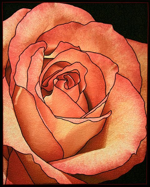 Nancy's Rose II by Kim Buzolich. Donated to the Sutter Health Breast Cancer quilt auction.