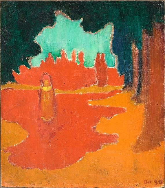 Maurice Denis - Sun-spots on the Terrace (1890)
