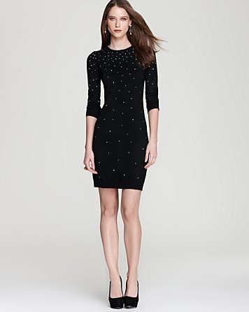 MICHAEL Michael Kors Studded Sweater Dress-- love mine in cream for the holidays