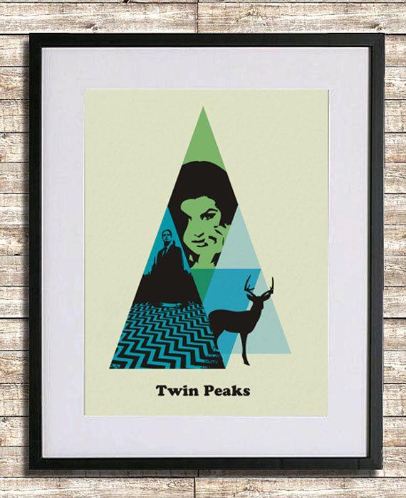 Twin Peaks Poster A3 Print. $18.00, via Etsy.: A3 Prints, Series Posters, Tv Posters, Picture-Black Posters, Peaks Art, Twin Peaks, Peaks Prints, Posters A3, Peaks Posters