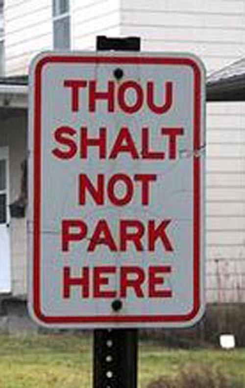 15 Imposing No Parking Signs