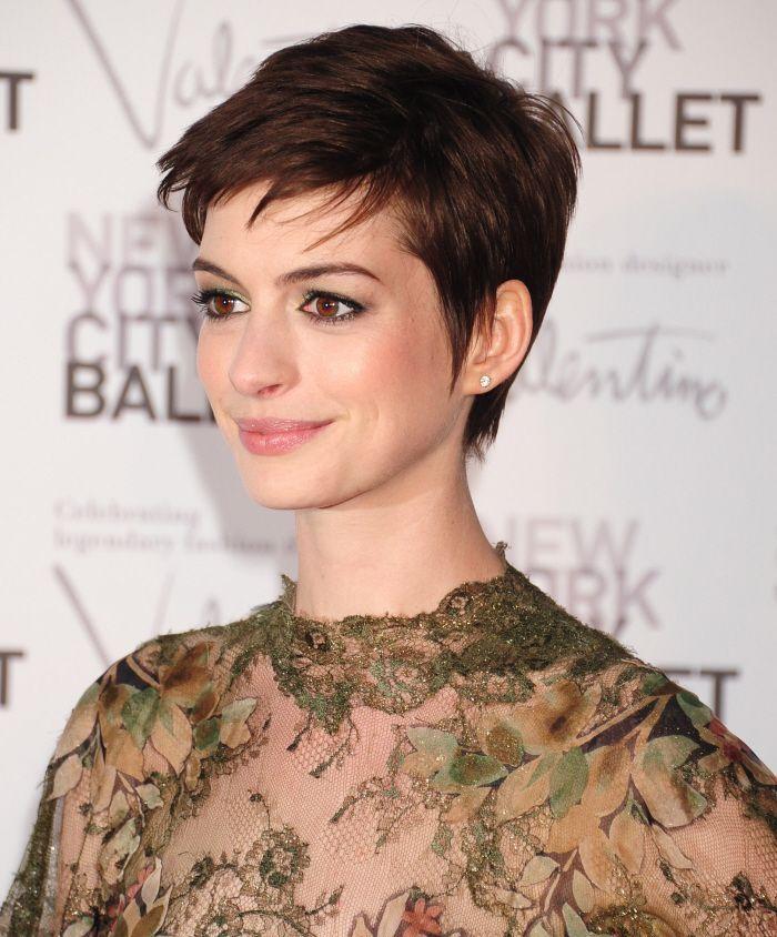 Anne Hathaway Pixie Haircut For Women