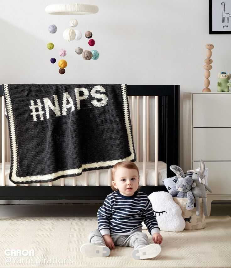Who doesn't love naps?!? This trendy and adorable crochet blanket is the perfect baby shower gift.