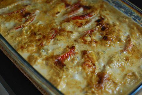 Wow sååååå gott detta blev! Detta måste ni faktiskt testa. Perfekt vardagsrätt som gör sig lika bra i matlådan. ca 4-6 port: 1 bit kassler ca 500 g 2-3 tomater 1/2 färsk ananas goudaost 1/2 purjolök 1 liten gul lök 3 dl grädde 2 dl creme fraiche 1 msk kycklingfond 1 msk mango chutney 1/2…