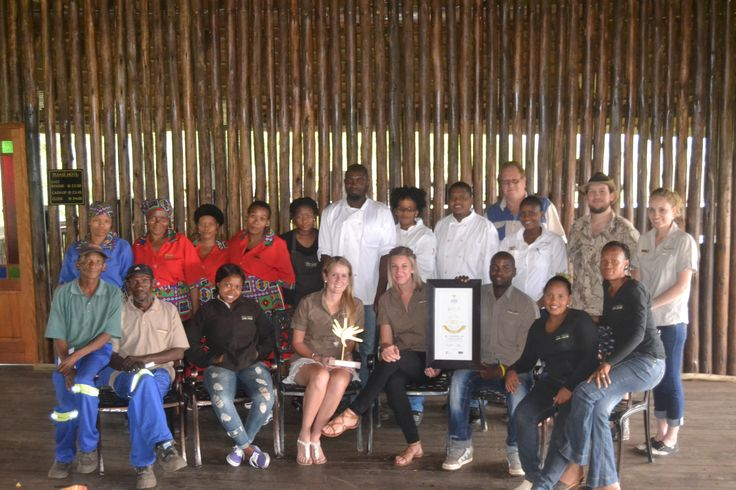 A Proud Team - winners of the 2015 Lilizella Awards - Best of the Best South Africa small lodges