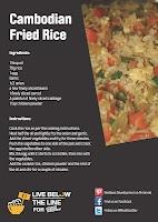 Cambodian Fried Rice Recipe- 42p per serving! Click through for more recipes!
