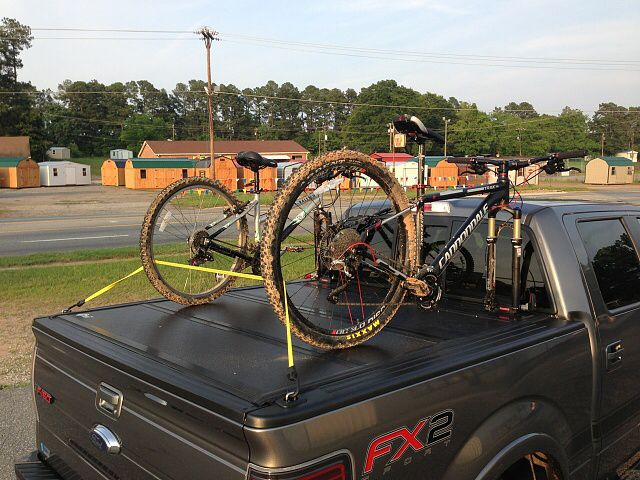 Bakflip Or Any Folding Cover With Bike Rack Ford Forum Community Of Truck Fans