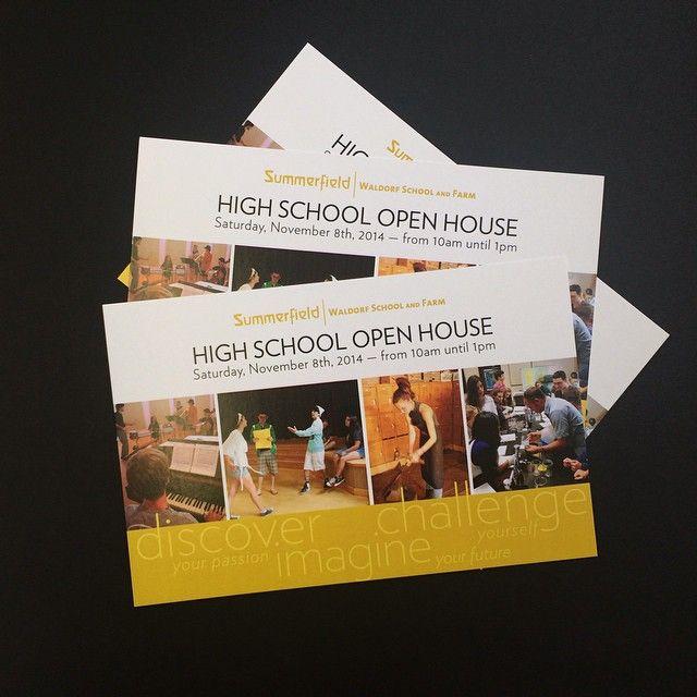 Oversized #postcards for the Summerfield #WaldorfSchool open house.