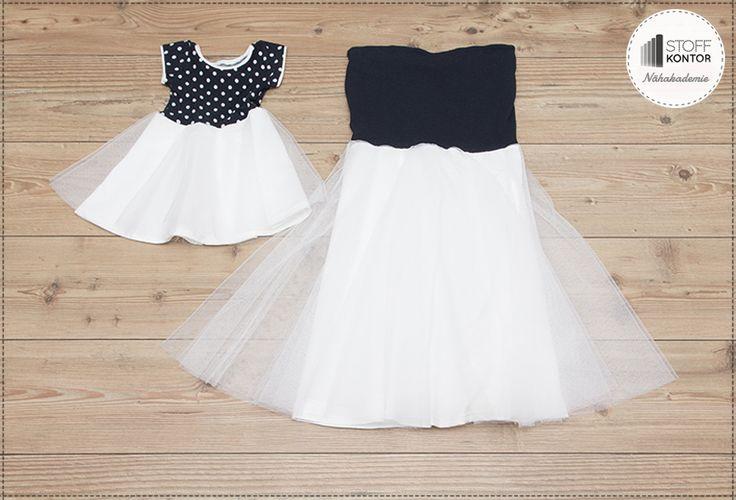 Tüllkleid nähen im Partnerlook Kinderkleid Größe 86