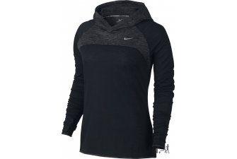 Nike Maillot Dri-Fit Wool Hoody W pas cher - Vêtements femme running Manches longues en promo