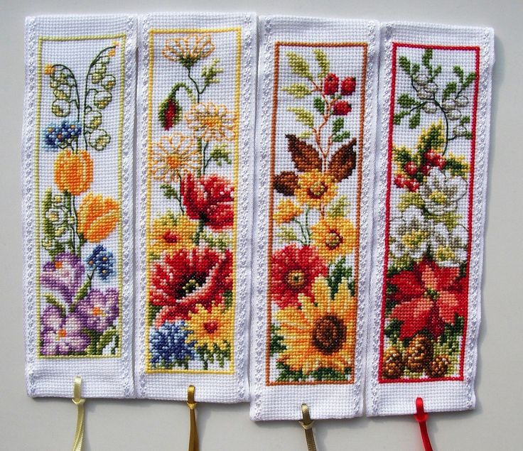 Vervaco cross stitch bookmarks-Spring,Summer,Autumn & Winter.