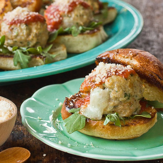 Cheesy Chicken and Mozzarella Meatball Sliders \\ No-Fuss Menu for a Fancy Cocktail Party