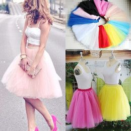 2015 Real Picture Knee Length White Tulle Tutu Skirts For Adults Custom Made A Line