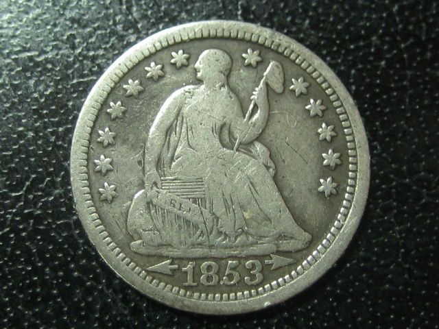 1853 seated liberty half dime, just listed on ebay, this fine American Gem, great little piece of Historic Silver, great way to invest in a little Silver