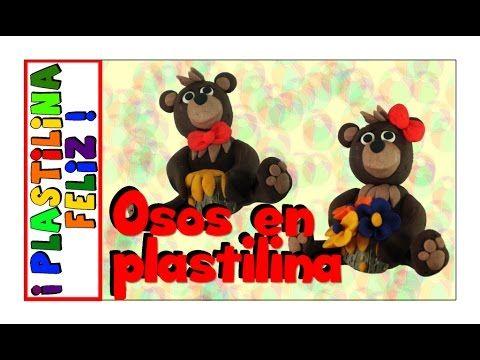 Oso de plastilina, osos en plastilina
