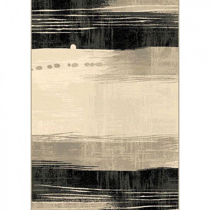 Contemporary luxury black & white rug Capri VIII by Sitap