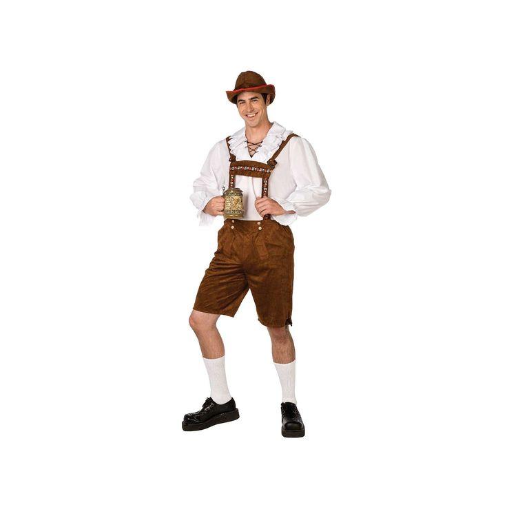 Lederhosen Costume - Adult, Men's, Size: Medium, Multicolor