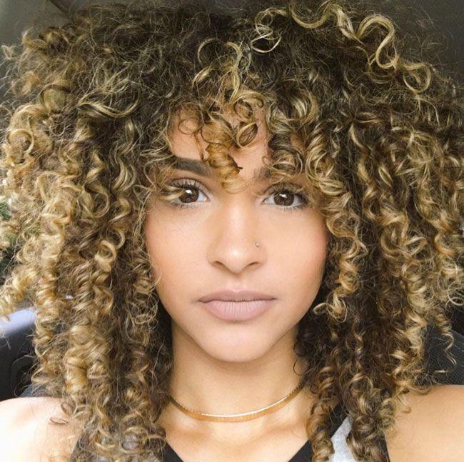 mydiamondsandg0ld DIYANITA curly hair bangs                              …