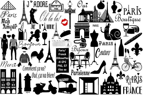 Paris French Silhouette Ai Eps Png New York Tattoo City Icon New York Party
