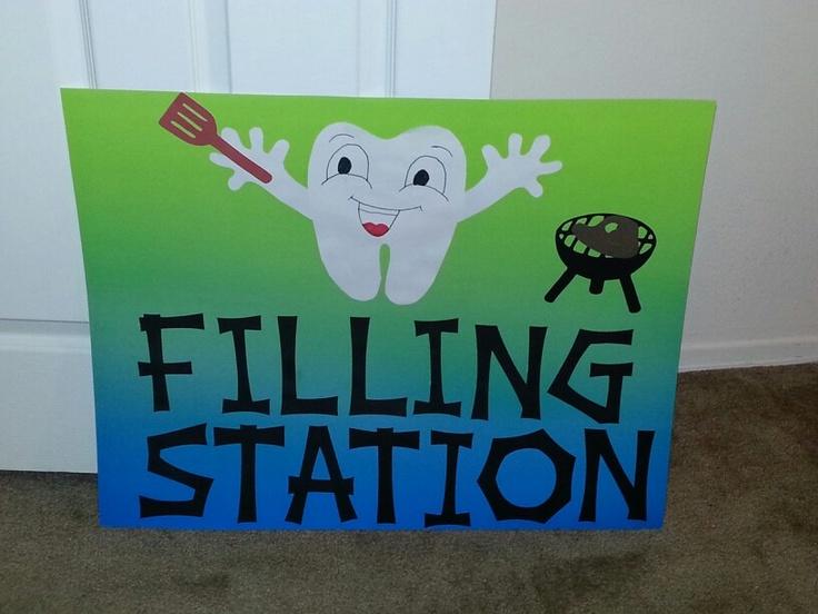 Filling station for Dental Graduation Party