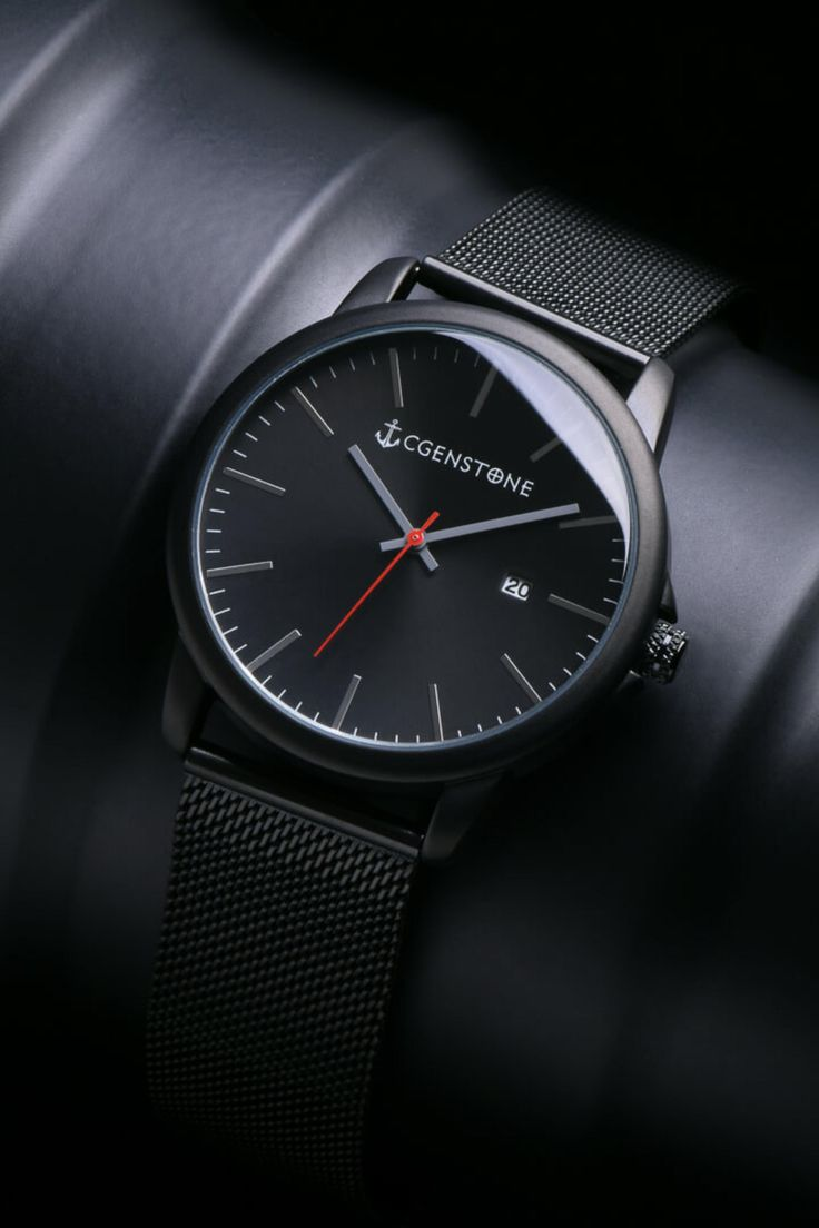 High Quality Watch at affordable price, Minimalist , Exclusive and Unique timepiece Under $100 - Free Shipping On All Order In United States - Men Watches - Luxury Timepieces - Gift for him - Cgenstone - Black Watch.