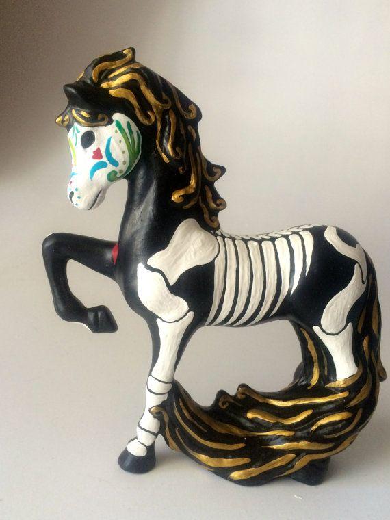 Day of the Dead Horse Sugar Skull pet memorial Dia by SpiritofAine