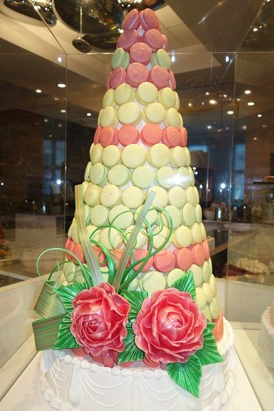 Spun sugar macaroon tree @Maison Christian Faure in Montreal, Canada.Elegant French pastries. @christianfaure