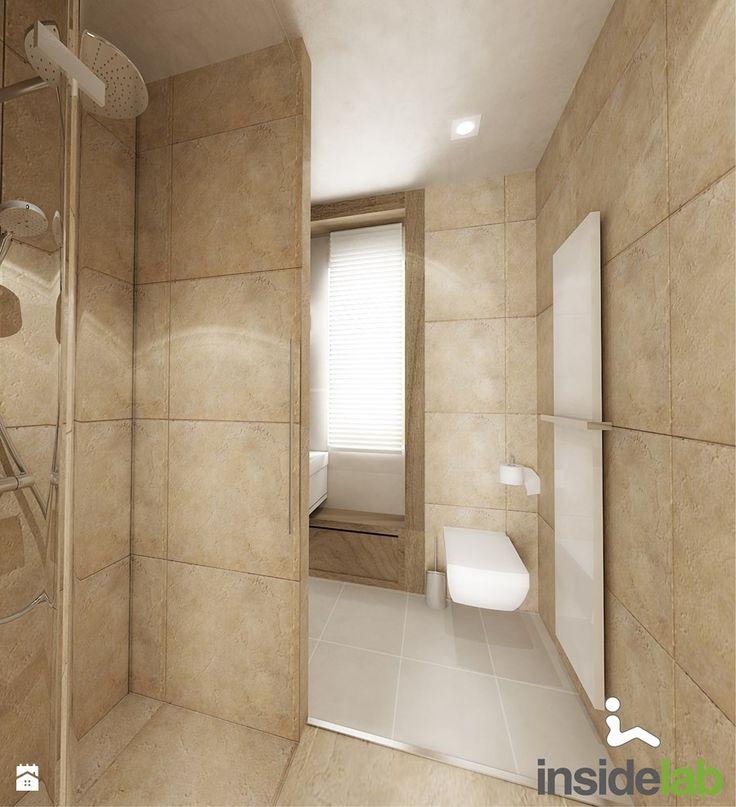DOM Z KOMINKIEM - Średnia łazienka w domu jednorodzinnym z oknem, styl nowoczesny - zdjęcie od Insidelab