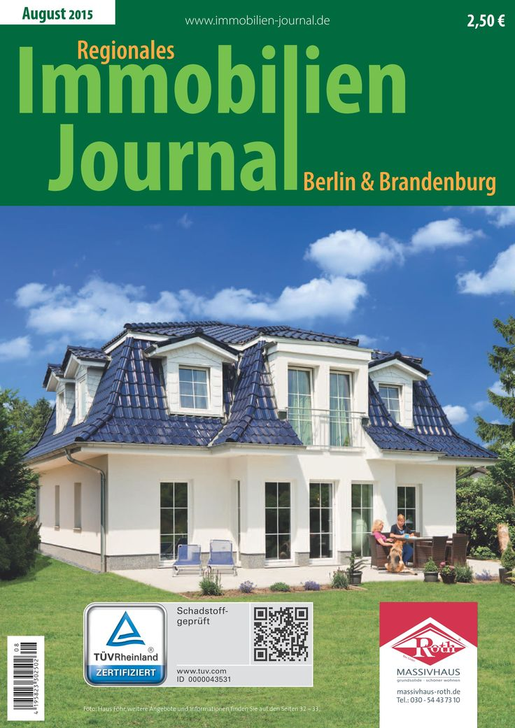 die august ausgabe des regionale immobilien journals. Black Bedroom Furniture Sets. Home Design Ideas