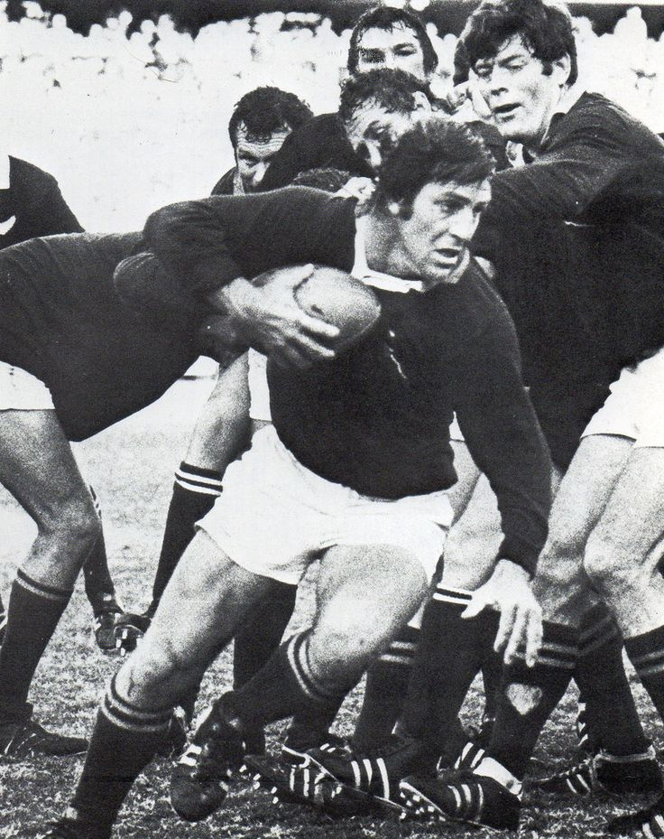 '76 - First test - The McLook rugby collection Boland Coetzee here in action. He had to play a lot tighter but played well enough to get a recall for the second test.