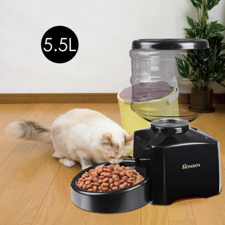 5 5 Liter Large Automatic Pet Feeder Dog Cat Dry Food Portion