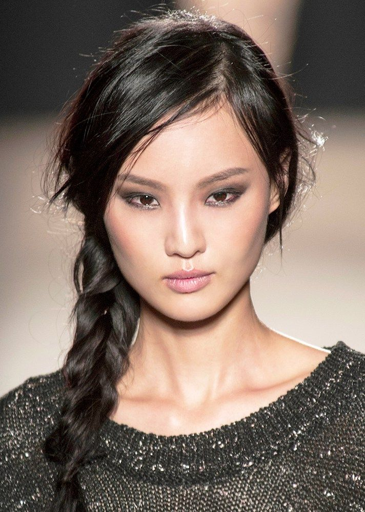 25 Easy Wedding Updos   braid with side part @stylecaster