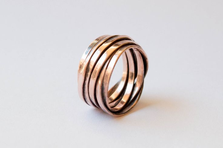 Wrap around ring , unisex ring , womens-mens ring , Wide Wrap Ring , Copper wrap ring , wide band ring , copper band womens ring