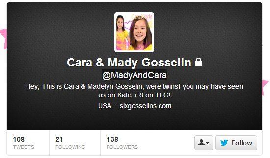 Kate Gosselin kids on Twitter are fake