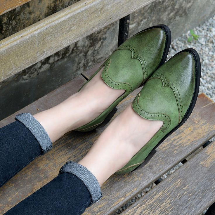 2016 New Arrival Summer Style Oxfords For Women,Ladies Top Quality Classic Vintage Slip On Flat Brogue Shoes Womens Loafers.