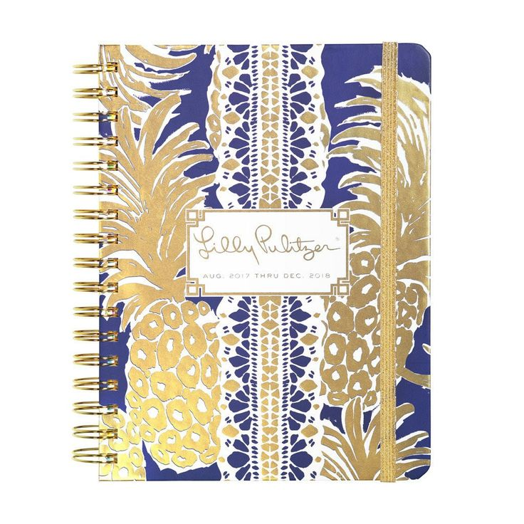 2017-2018 Lilly Pulitzer Large Agenda - Pineapple Navy