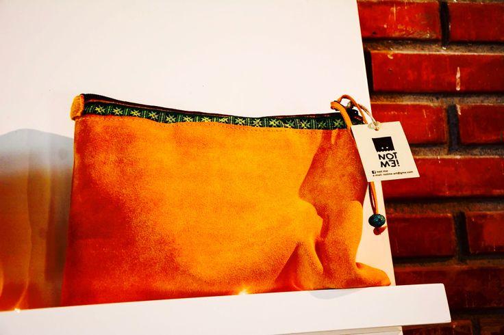 Notme art leather clutch bag