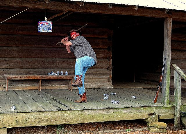 Redneck piñata!! any stick will do...