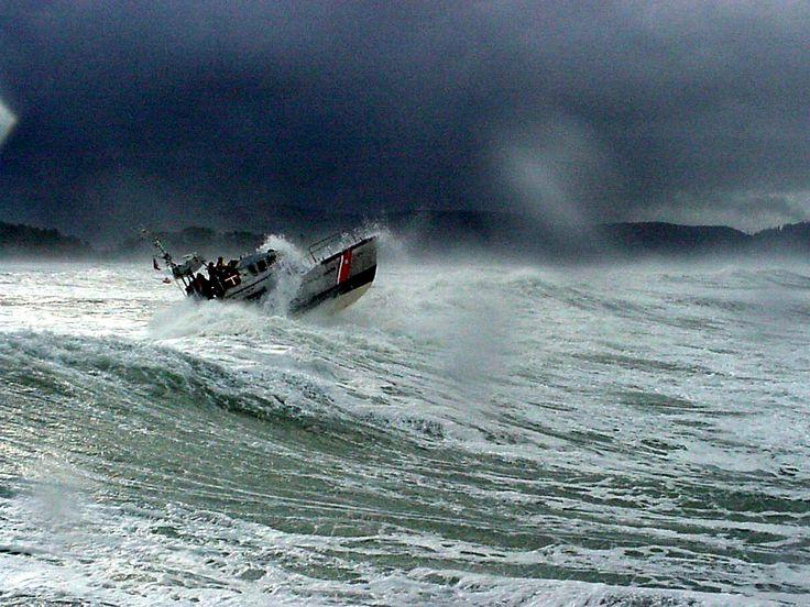 Coast Guard in Surf