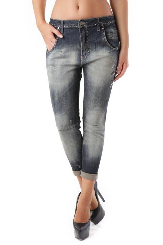 Jeans Donna Sexy Woman (VI-J2879) colore Blu Scuro