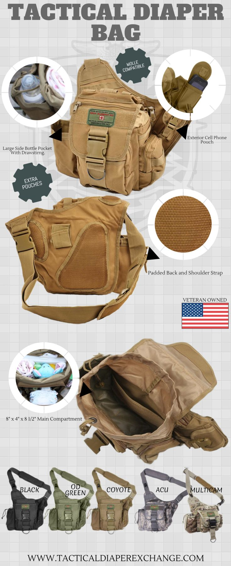 The Daddy Doody Bag - Perfect Father's Day gift | Tactical Diaper Exchange