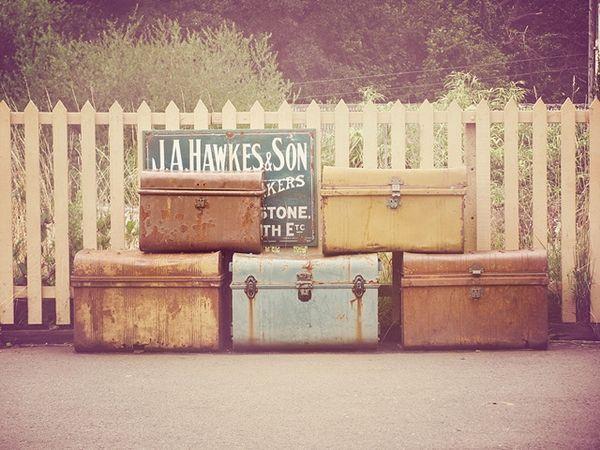 Para viajar maletas vintage