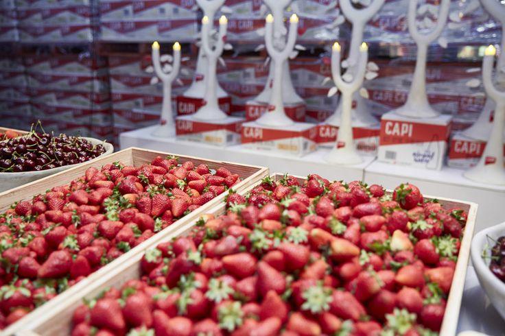 Field of strawberries.