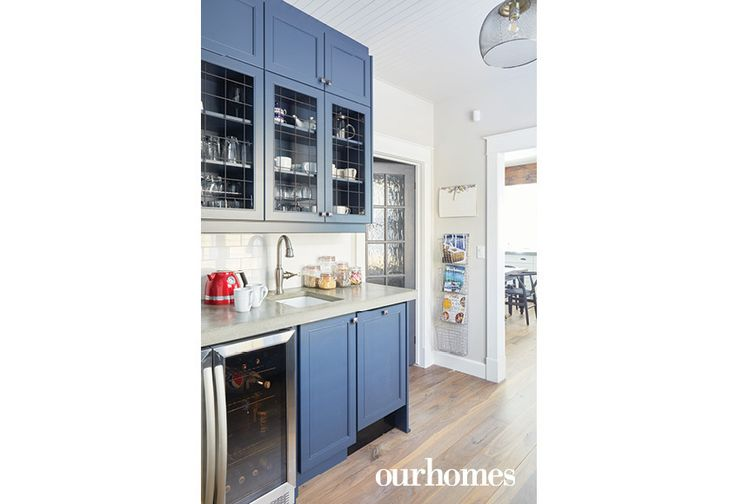 The original cottage reno plans called for a huge main floor bathroom. Instead, the homeowners opted for a smaller bathroom, creating space for a practical butler-style pantry with a large, walk-in storage room.  http://www.ourhomes.ca/articles/build/article/fullscale-reno-makes-a-classic-cottage-statement