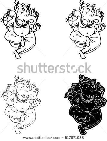 Ganesh illustration. Hindu God. Ganesha